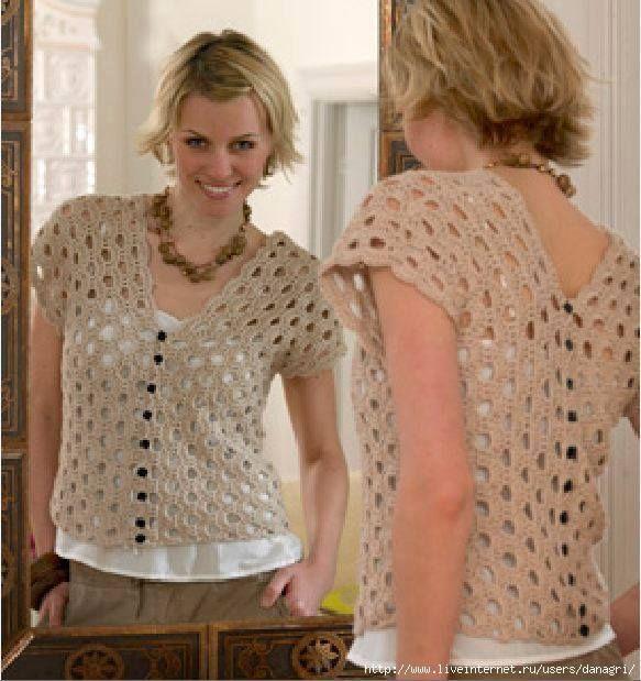 Butterfly Creaciones: blusa calada