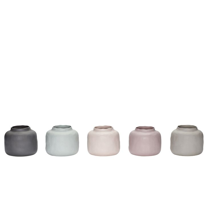 Porcelain vases in a set of 5. In 5 different colours. Product number: 459001 - Designed by Hübsch