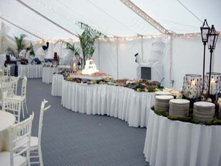 serpentine buffets add a wonderful elegant touch to your special day