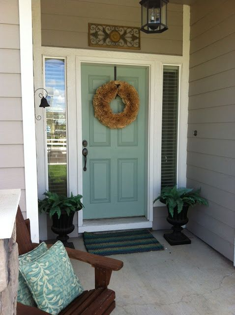 Benjamin Moore - Wythe Blue, for the front door. I think we have a winner and I may have convinced my other half!