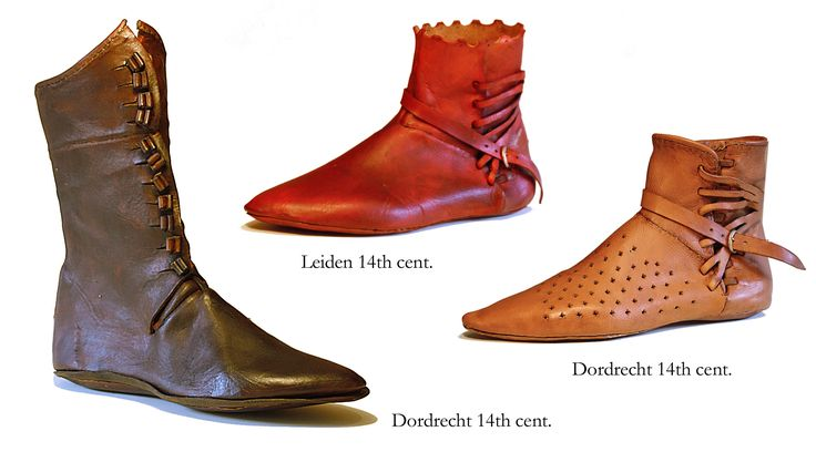 14th Century Shoes   14th cent boots. Kublai Khan was givern Korean fishskin boats which were lovely and soft.
