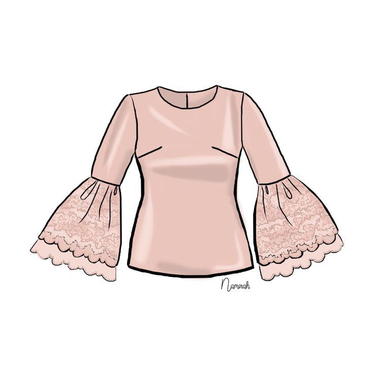 #whatiwanttowear yes this blouse😍 I wish everytime i sketch blouses, pants, skirts, shoes & dress. It will appear in my wardrobe 😍😁Like tadaaaaaaaaaaa . . . . . . . . . #namirahsketches #illustration #fashiondesign #fashionillustrator #fashion #artdesign #malaysian #malaysianartist #instaart #malaysianillustrator #fashion #digitalart #sketches #senilukis #lukisandigital #fesyen #instagrammers #freelancer #freelancefashionillustrator #lifestyle #hijabista #dailyart #adobephotoshop