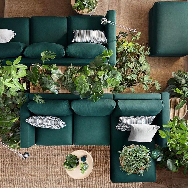 Is groen de nieuwe kleur van de lente? #woonkamer #groenebank * * * * Credits: @ikeanederland * * * * #inspiratie #interieur  #meubels #meubel #meubelonline #wonen  #woonaccessoires #design #groen #living #interior #ikeanederland #interior4you #instahome #ikea #vimle #wooninspiratie #homedeco #homedecoration #homedecor #furnnl #furniture #beautiful #homeandliving #lifestyle #weekend #saturday #zaterdag #saturdays #saturdayswag