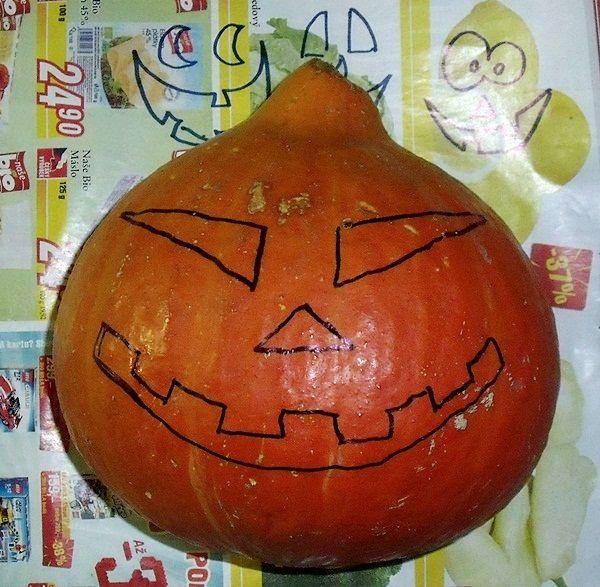 Podzimní tvoření s dětmi - Dýně na Halloween