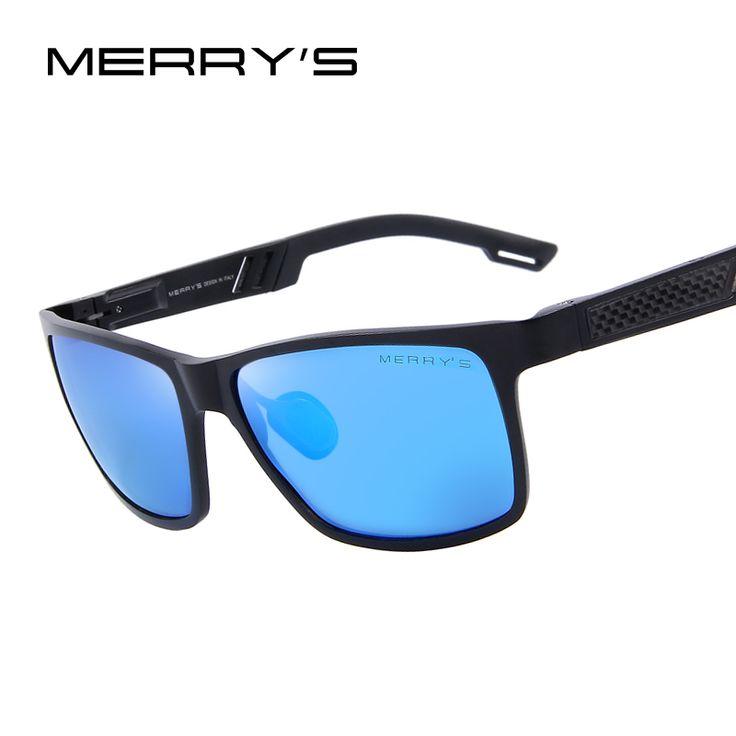 MERRY'S Men Polarized Sunglasses Aluminum Magnesium Sun Glasses Driving Glasses Rectangle Shades S'8571