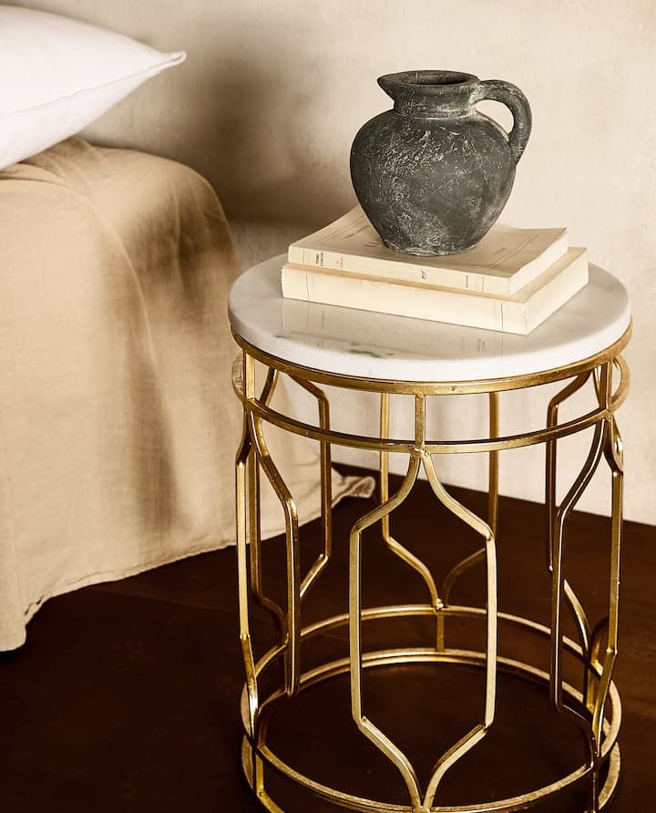 Image Of The Product Marble Table With Metal Frame Marble Table Zara Home Marble Tables Design