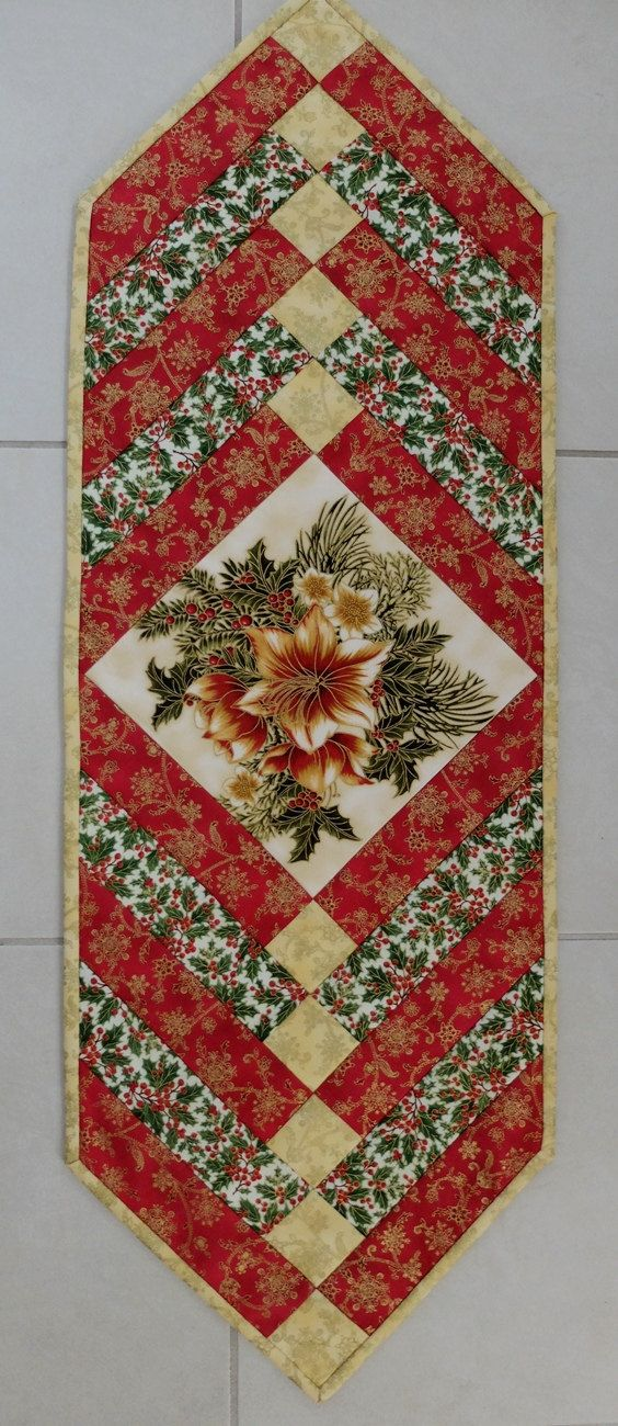 This festive and traditional Christmas French Braid table runner will bring that touch of elegance to your dining or coffee table. The Christmas