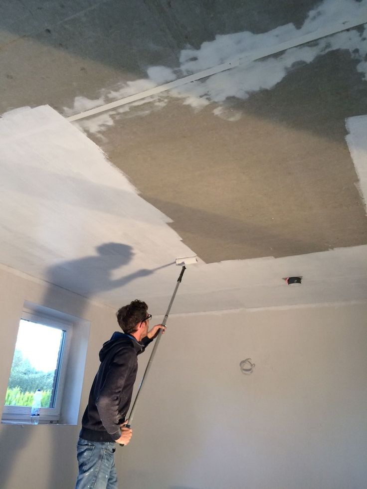 Bei Unserem Hausbau Haben Wir Uns Selber Um Die Malerarbeiten Gekmmert Du Findest Hier Infos Zum Decke Verputzen Spachteln Streichen