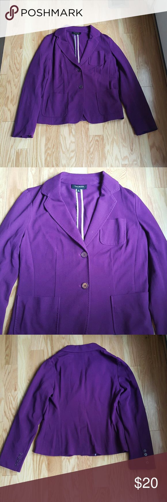 Talbots Purple Blazer Sz10 Size 10 purple Talbots Blazer  In like new condition  No signs of wear or fading! Talbots Jackets & Coats Blazers