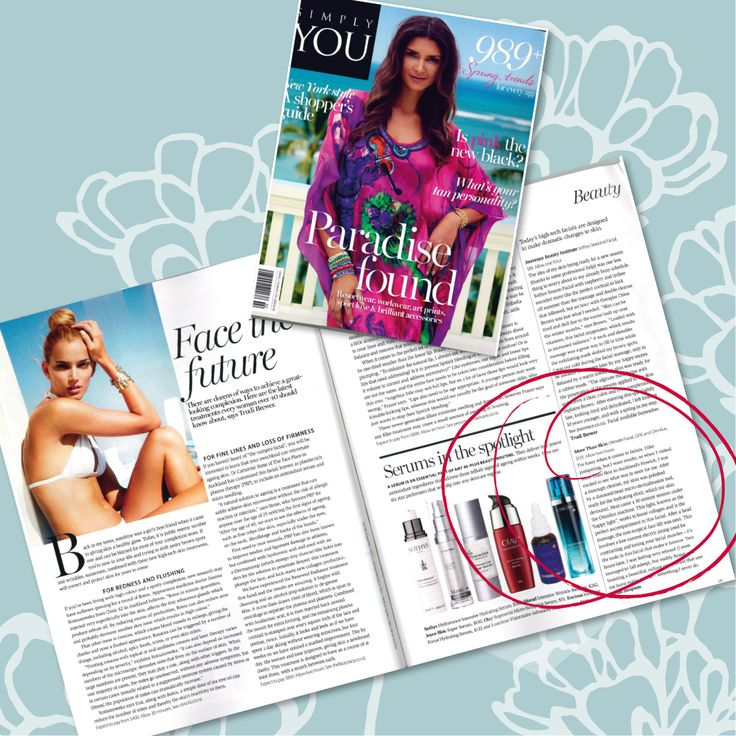 Simply You loves our Ultimate Facial and Omnilux treatment! (Spring/Summer 2014 Issue)