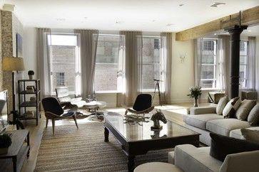 Spice Warehouse Tribeca Loft Living Room - eclectic - living room - new york - Marie Burgos Design