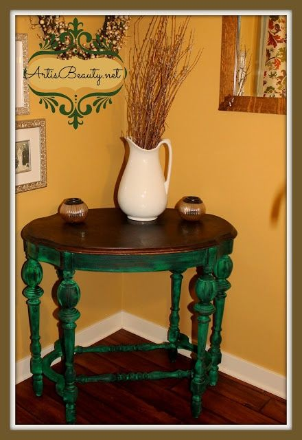 Art Is Beauty Emerald Isle Parlor Table Makeover Cece