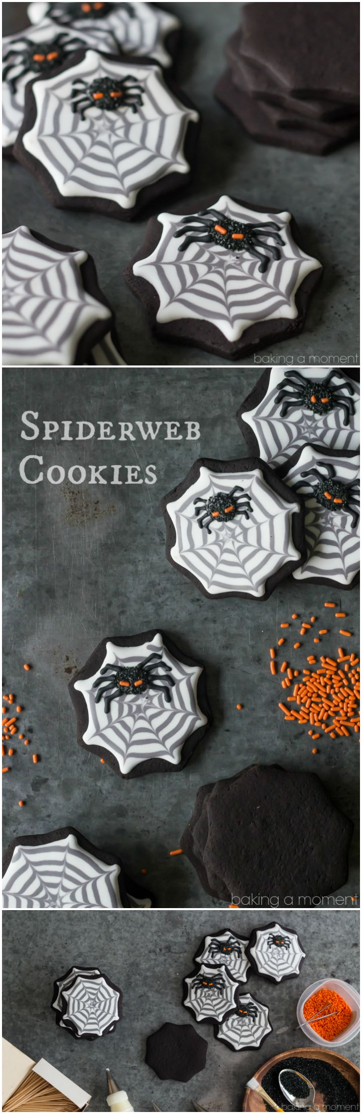 How To Make Spiderweb Cookies With Royal Icing  These Were Pretty Easy And  Kindau2026
