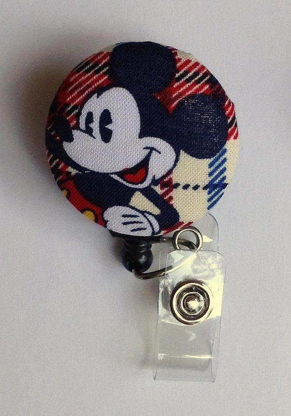 Mickey Mouse Retractable Badge Reel / ID Holder - Disney ...