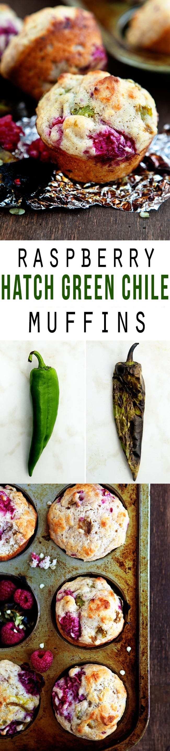 Hatch Green Chile Raspberry Muffins
