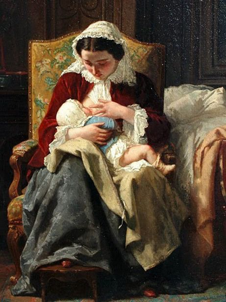 The Young Mother, Jules Trayer (1824 – 1909, French) I AM A CHILD