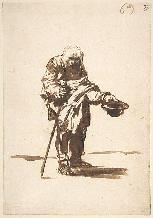 Francisco de Goya - Vagabundo con sombrero en la mano