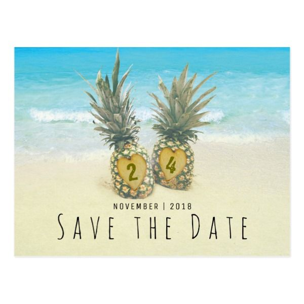 Custom Beach-themed Save the Date card. Available at Boardman Printing.