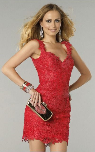 Backless Short Natural Sheath Lace Formal Dresses aiab2054