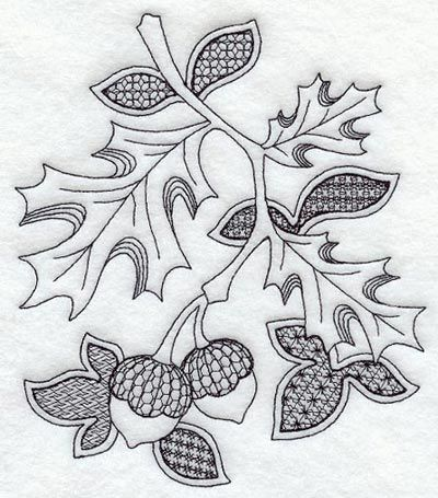 embroidery autumn.  This is for machine, but I'd like to make it a pattern for handwork