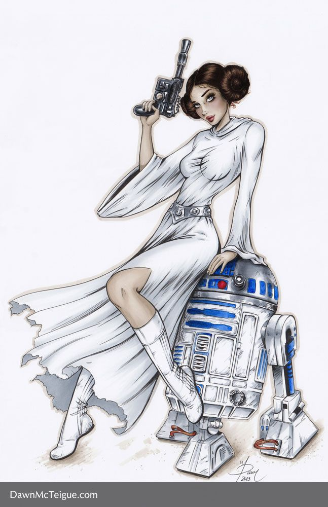 Princess Leia by Dawn-McTeigue.deviantart.com on @deviantART