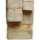 Southwest Medallion Embroidered Linen 3 Pc Bath Towel Set  #cricut