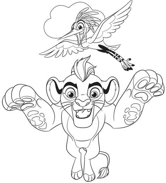 Kion And Ono Coloring Page Of Lion Guard Lion King Fan Art Lion Coloring Pages Coloring Pages