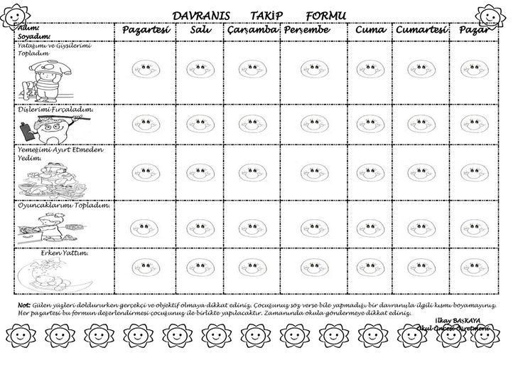 hoŞaf'ın Düş Kanyonu : Davranış Takip Formu