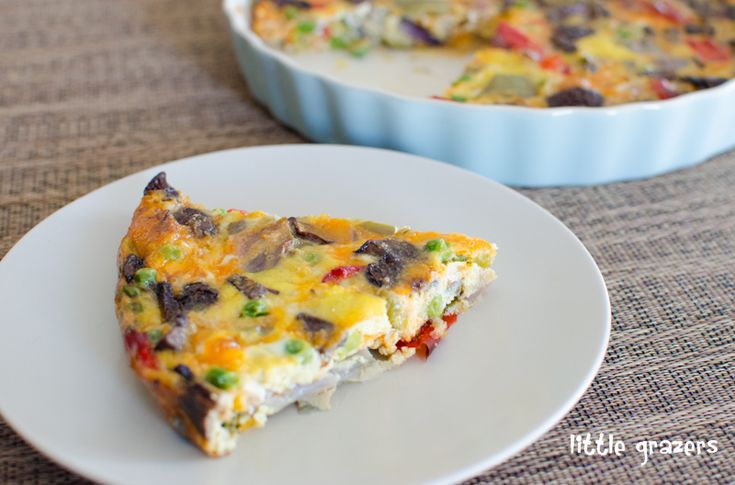 Roasted Vegetable Frittata | Little Grazers