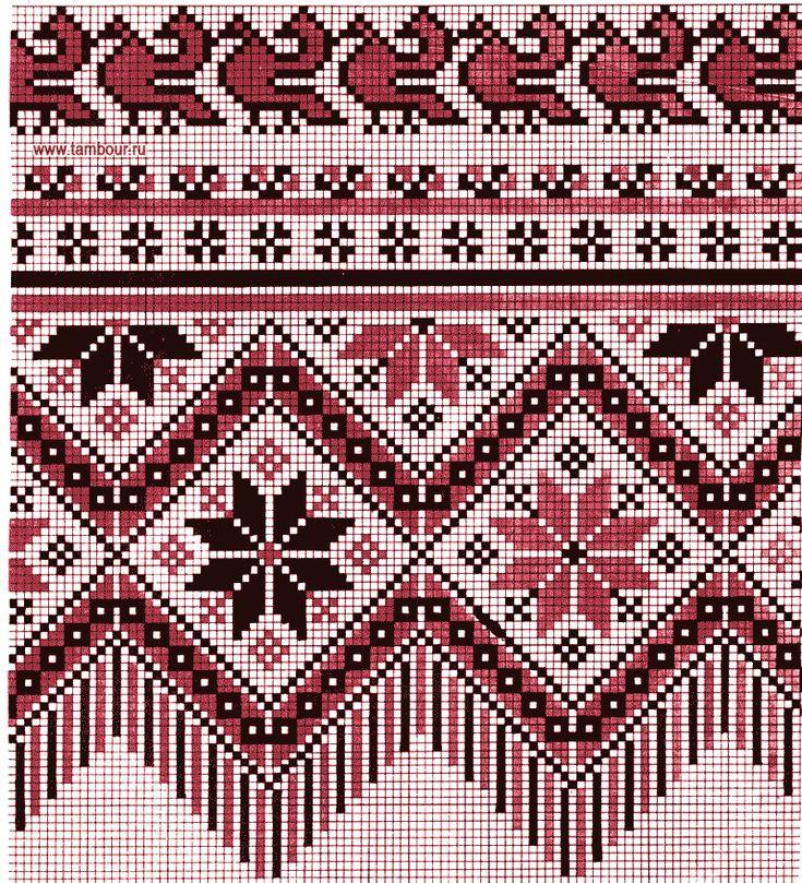 Схемы карельских вышивок