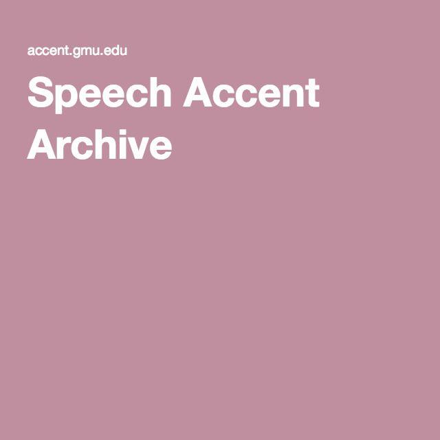 Speech Accent Archive
