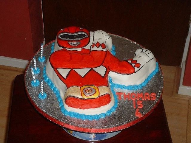 Power Ranger Birthday Cake