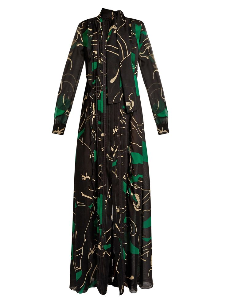 Click here to buy Valentino Panther-print silk-georgette gown at MATCHESFASHION.COM