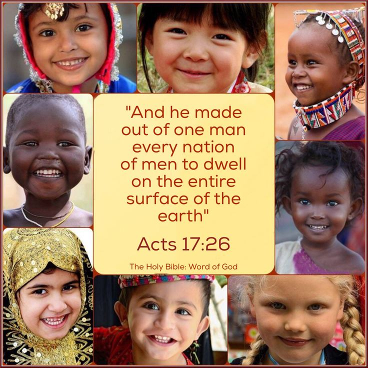 "When Jehovah looks down from heaven, he sees just one race—the human race. ""God is not partial, but in every nation the man that fears him and works righteousness is acceptable to him.""—Acts 10:34, 35."