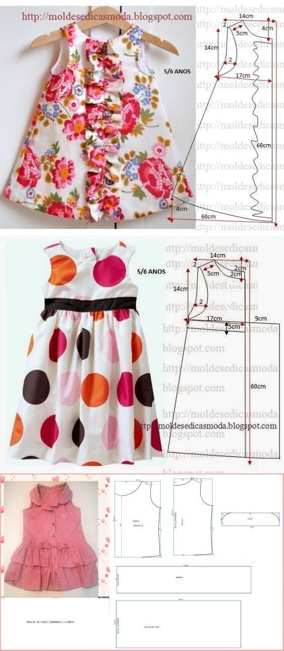 How to make different type of frock | Easy Craft Ideas...♥ Deniz ♥: