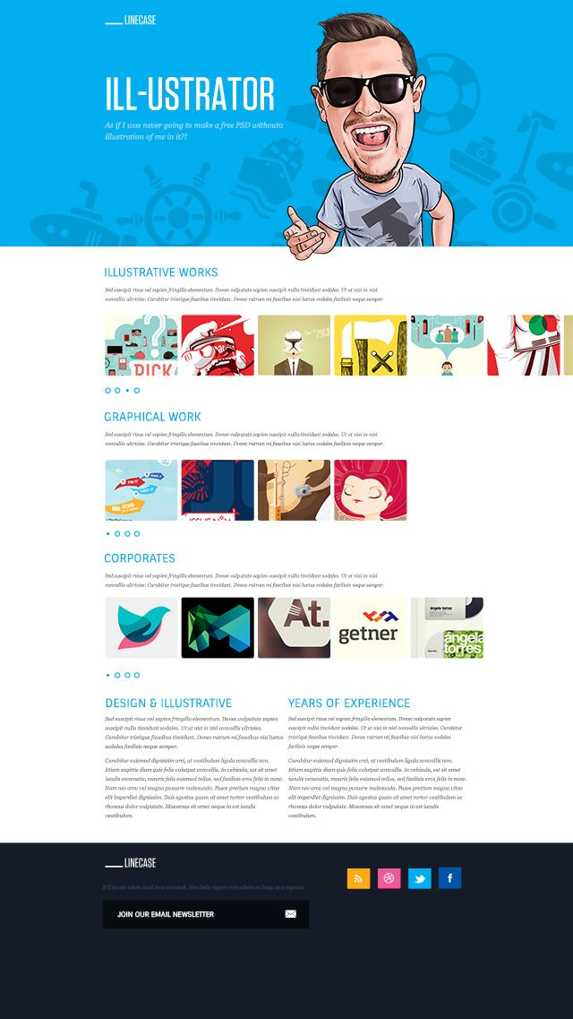 LineCase - This template is called LineCase and it's super cheesy. It's bright, it's fun and it's super minimal.