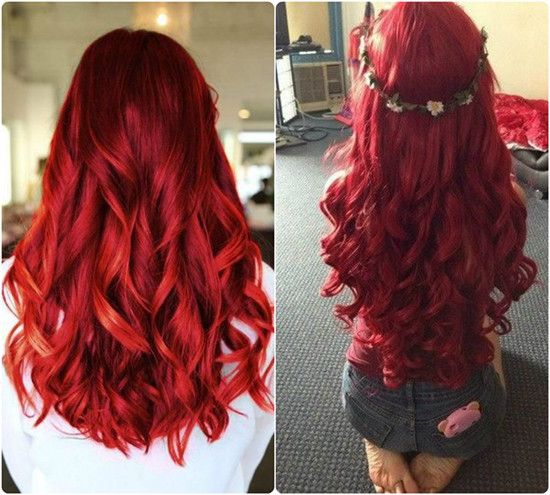 Trending Red Hair looks and Ideas with 613a hair extensions big red waves