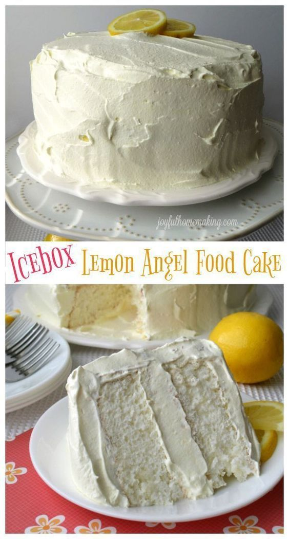 Icebox Lemon Angel Food Cake Recipe Cake Recipes Angel Food