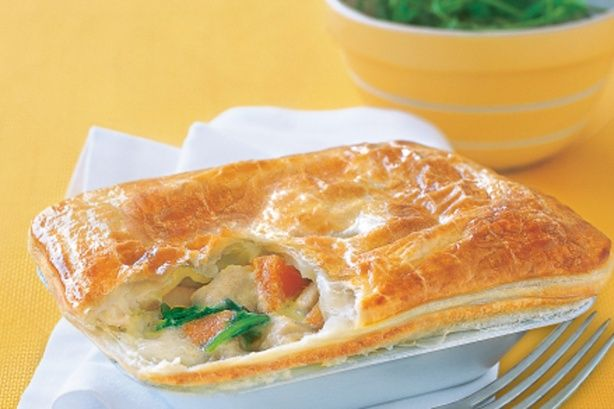 This hearty family pie is full of spicy Asian flavours and healthy vegetables.