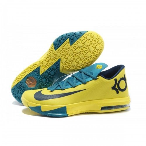 Cheap Nike New Zoom Kevin Durant 6 KD VI Yellow Blue Black