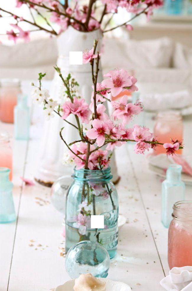 Cherry blossom centerpieces #cherryblossomweddings