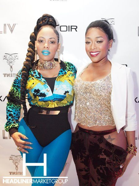 #KeyshiaKaoir + #Trina party at #LIV in #MIAMI for #NeonRockstarr Launch and Trina's #Birthday