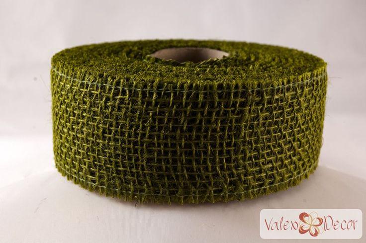 Juta szalag - Olivazöld - Valex Decor Kft. | Virágkötészeti kellékek és dekorációk webáruháza