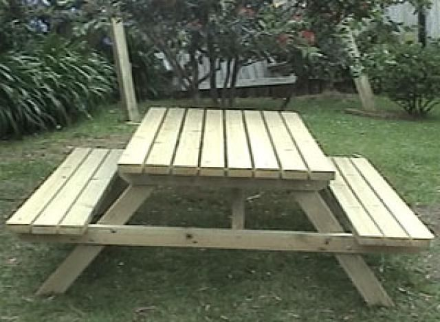 Build Yourself a Picnic Table with One of These 14 Free Plans: Large Picnic Table Plan from BuildEazy