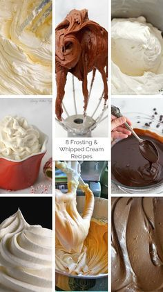 8 Frosting & Whipped Cream Recipes - Whip Cream Stabilize: 1¼ Cup Whipping Cream 6-8 T powdered sugar 1 t vanilla extract 1 T skimmed milk powder (aka nonfat powdered milk or Non fat Instant Dry Milk)  Add powdered sugar (to taste), skimmed milk powder, and vanilla to the cream. Using a food processor, whip the cream until it thickens.