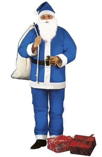 Blue #father xmas santa claus christmas #fancy #dress costume m/l includes beard,  View more on the LINK: 	http://www.zeppy.io/product/gb/2/401216260784/