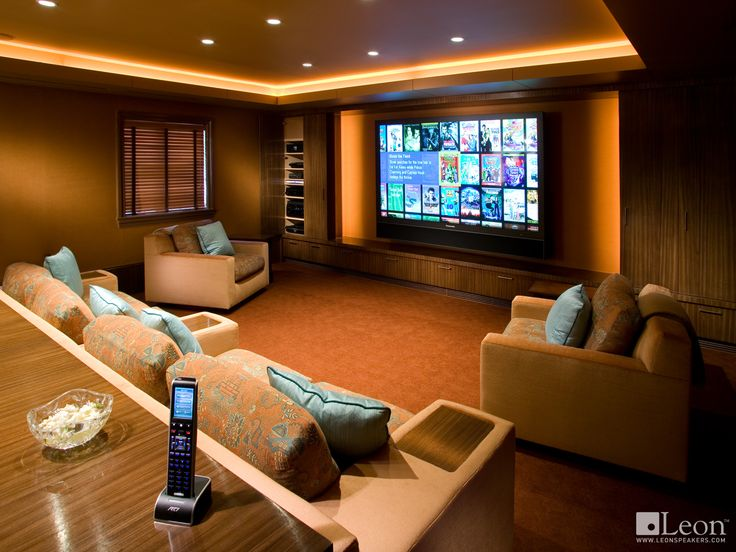 Custom Horizon Series Soundbar Handcrafted By Leon Speakers Installed AVX Los Angeles Home Cinema RoomTheatre