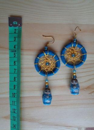 Kupuj mé předměty na #vinted http://www.vinted.cz/doplnky/nausnice/10899353-modro-zlate-indianske-nausnice-s-babuskami