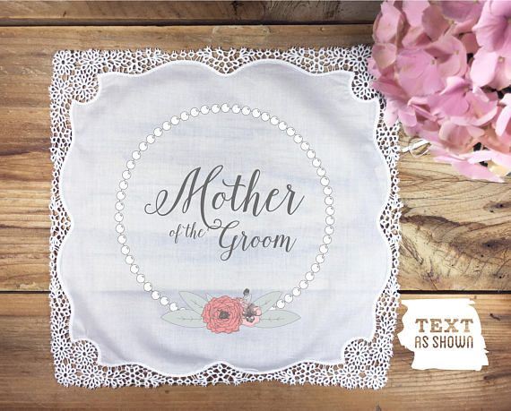 Mother of the groom handkerchief  non personalized wedding