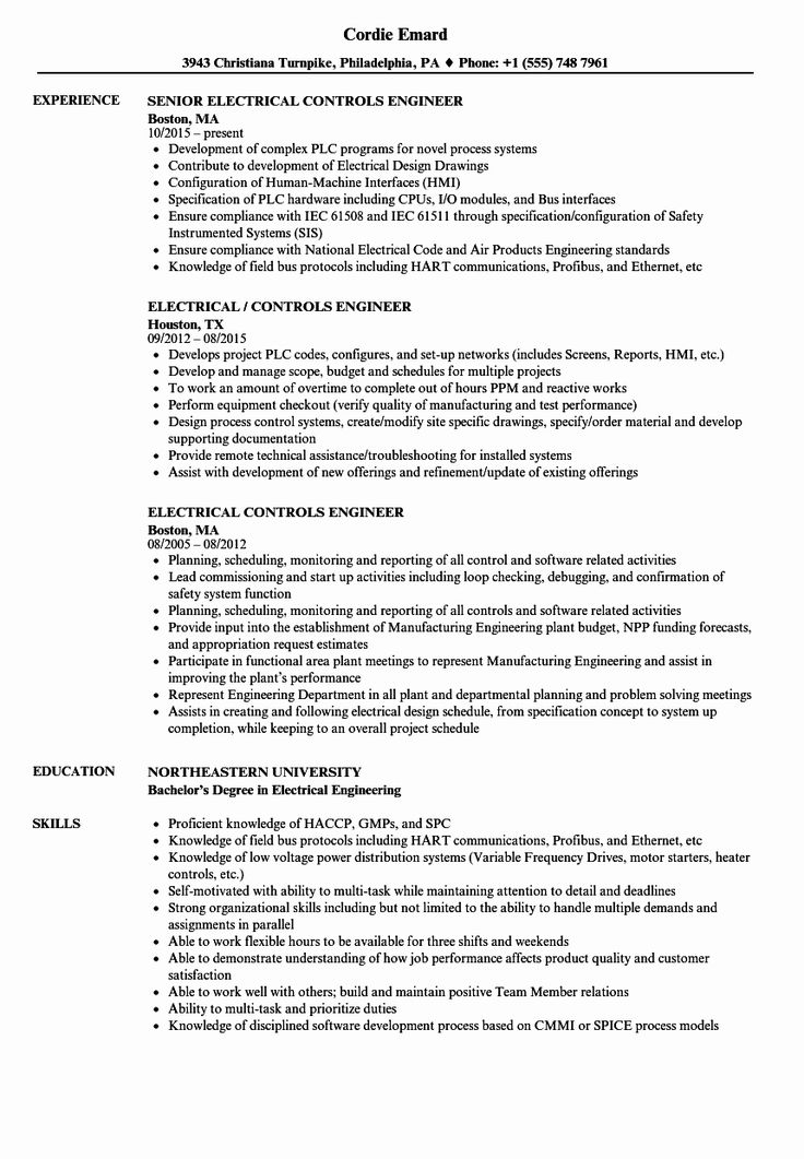 25 electrical engineer resume sample in 2020 objective 2019 career my is to become